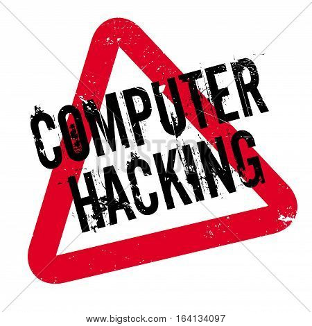Computer Hacking rubber stamp. Grunge design with dust scratches. Effects can be easily removed for a clean, crisp look. Color is easily changed.