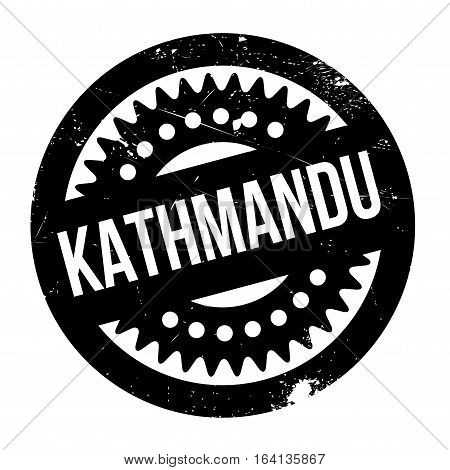 Kathmandu rubber stamp. Grunge design with dust scratches. Effects can be easily removed for a clean, crisp look. Color is easily changed.