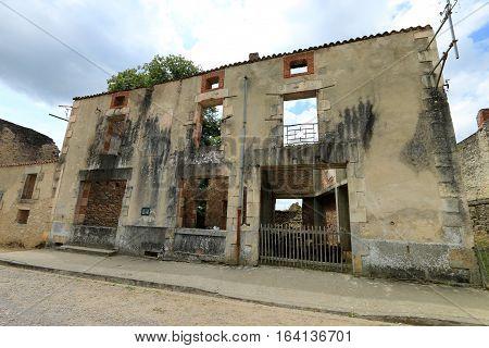 Oradour sur Glane , french destroyed village, 10 June 1944
