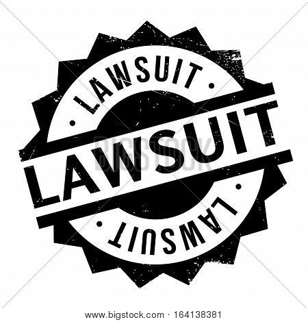 Lawsuit rubber stamp. Grunge design with dust scratches. Effects can be easily removed for a clean, crisp look. Color is easily changed.