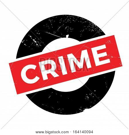 Crime rubber stamp. Grunge design with dust scratches. Effects can be easily removed for a clean, crisp look. Color is easily changed.