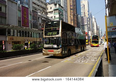 Public Transport On The Street In Hong Kong