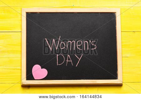 Womens Day Painted By Chalk
