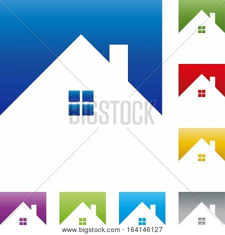 House and windows, colored, real estate and real estate agent logo