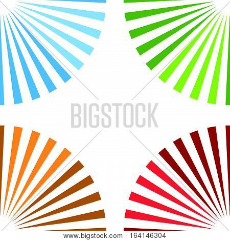 Bright Colorful Background With Starburst At Corners