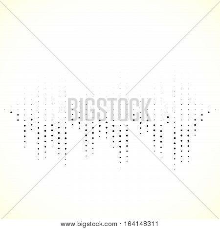 Dotted Equaliser (equalizer, Eq) Lines. Vertical Dots.