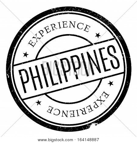 Philippines stamp. Grunge design with dust scratches. Effects can be easily removed for a clean, crisp look. Color is easily changed.