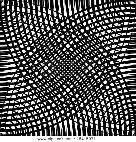 Grid, Mesh Pattern Of Circles With Dynamic Lines. Circular Grid.