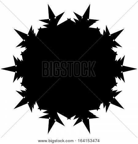 Silhouette Of Random Edgy Geometric Shape On White