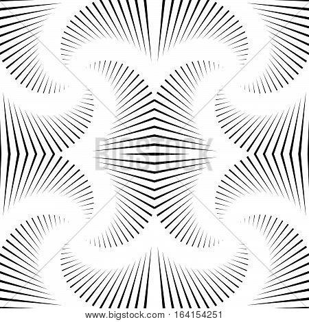 Monochrome Spiral, Twirl Element. Geometric Rotating Shape.