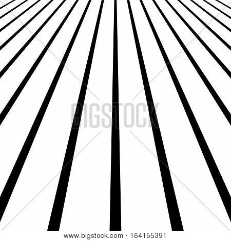 3D Vanishing, Converging Lines. Spatial Space, Zoom Lines, Perspective Background