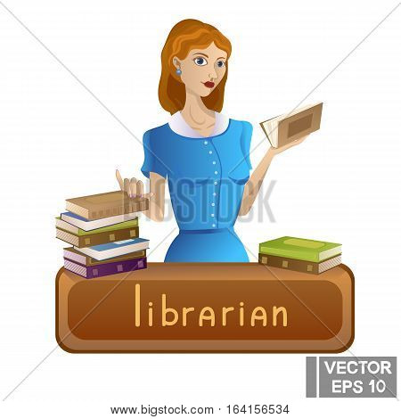 Librarian Profession Girl Holding A Book