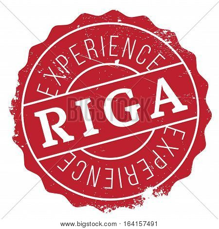 Riga stamp. Grunge design with dust scratches. Effects can be easily removed for a clean, crisp look. Color is easily changed.