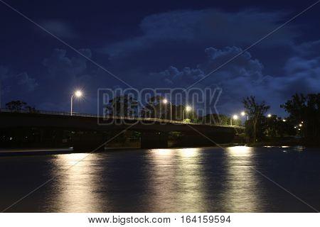 Fitzroy River Bridge (the Old Bridge) at Night