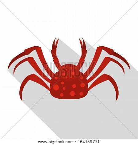 Red Alaska crab icon. Flat illustration of red Alaska crab vector icon for web isolated on white background