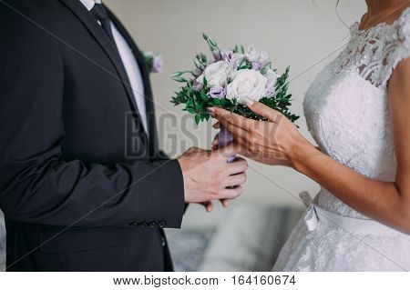 Marry Me Today And Everyday, Hands Of A Wedding Caucasian Couple