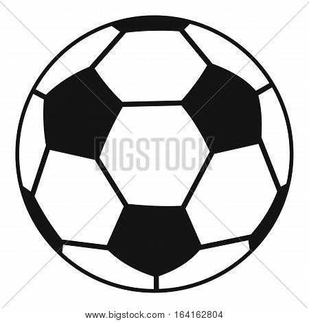 Soccer ball icon. Simple illustration of soccer ball vector icon for web