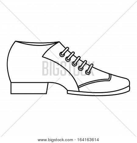 Argentine tango shoe icon. Outline illustration of argentine tango shoe vector icon for web