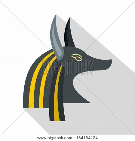 Anubis head icon. Flat illustration of Anubis head vector icon for web isolated on white background
