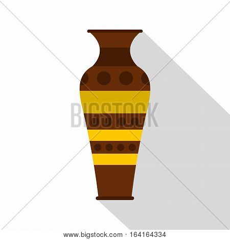 Egyptian pottery vessel icon. Flat illustration of egyptian pottery vessel vector icon for web isolated on white background