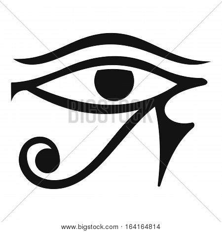 Eye of Horus Egypt Deity icon. Simple illustration of eye of Horus Egypt Deity vector icon for web