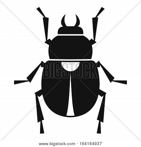 Scarab icon. Simple illustration of scarab vector icon for web