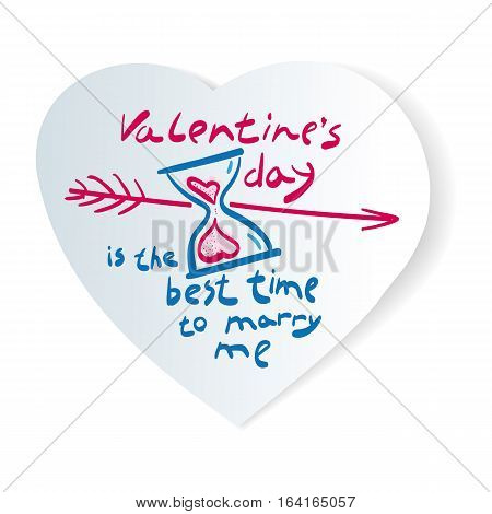 Stock image time love. Illustration of love, romantic theme, a picture of the poster for Valentine's Day, a marriage proposal.