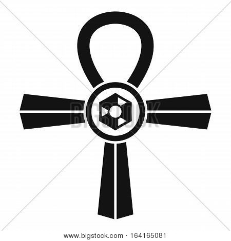 Egypt Ankh symbol icon. Simple illustration of Egypt Ankh symbol vector icon for web