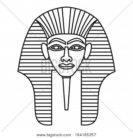 Egyptian pharaohs mask icon. Outline illustration of egyptian pharaohs mask vector icon for web
