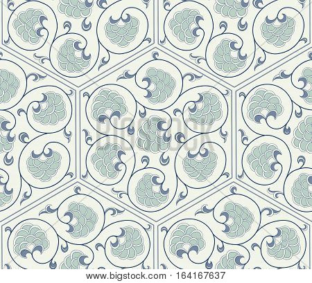 Traditional  Arabic ornament seamless for your design. Floral Ornamental pattern. Background. Vector.  Iznik.