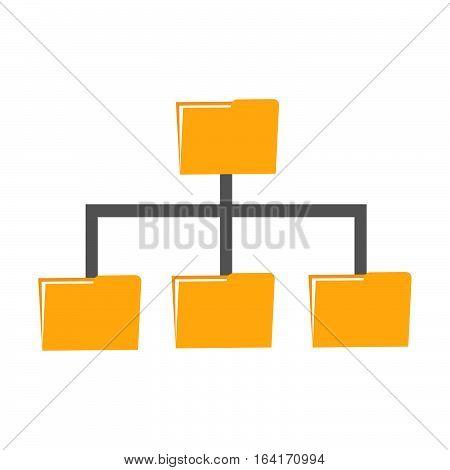 Folder management. Folder sharing data or file backup concept.