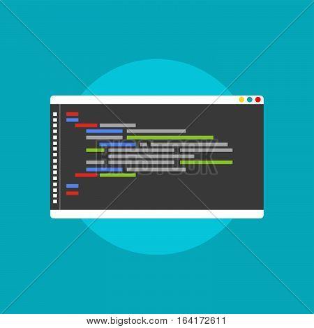 Programming or coding concept. Code editor icon