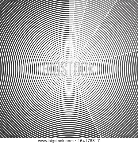 Dark color abstract background in minimalist style made from gray circles. Business concept for cover decoration of brochure, flyer or report.