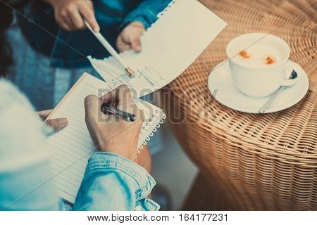 Business concept Business woman people working together Business meering