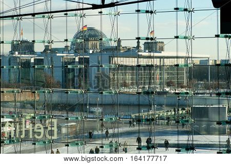 Reichstag Building And Pal Loebe Haus, Berlin
