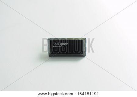 backspace key from keyboard isolated on white background