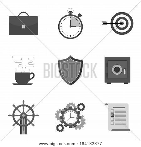Set Of Icons And Symbols In Trendy Flat Style Isolated On White Background.