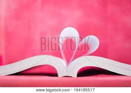 Book Curved Heart Shape