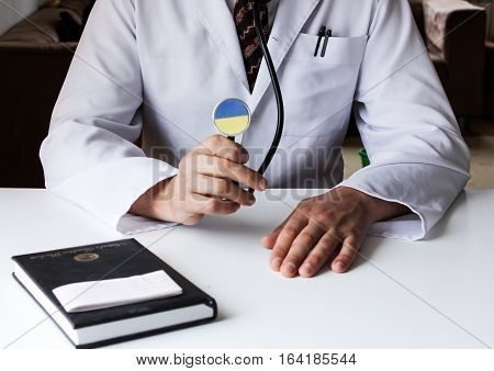 Doctor in the office of a therapist