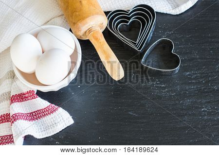 Baking Concept For Valentines Day