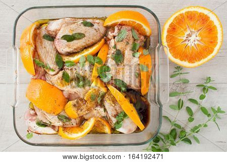 Chicken Wings With Orange And Marjoram