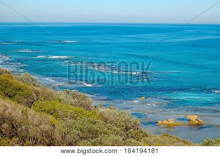 View of the Bass Strait from the back beach of Sorrento in Victoria, Australia