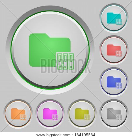 Organize folder color icons on sunk push buttons
