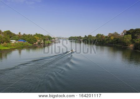 The River in Kanchanaburi Province of Thailand