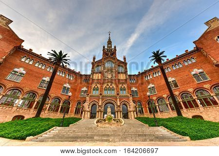 Hospital Sant Pau Recinte Modernista -barcelona, Spain