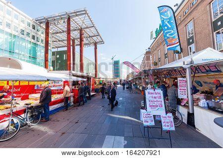 Street Market In Eindhoven, Netherlands