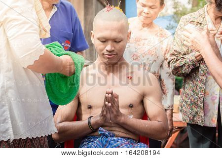 Ordination Of Buddhists In Thailand.