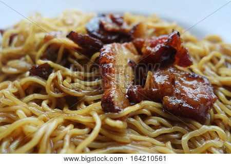 Dried Wanton Noodle With Barbecue Pork