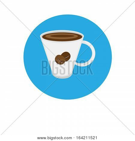 Vector moder isolated icon coffee and tea shop