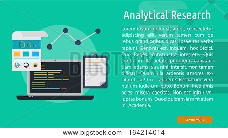 Analytical Research Conceptual Banner | Great flat illustration concept icon and use for science, research, technology, physics, chemistry and much more.